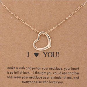 Gold Dipped I Love You Wish Necklace